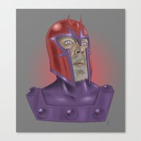 magneto Canvas Prints featuring Magneto by Matthew Bartlett