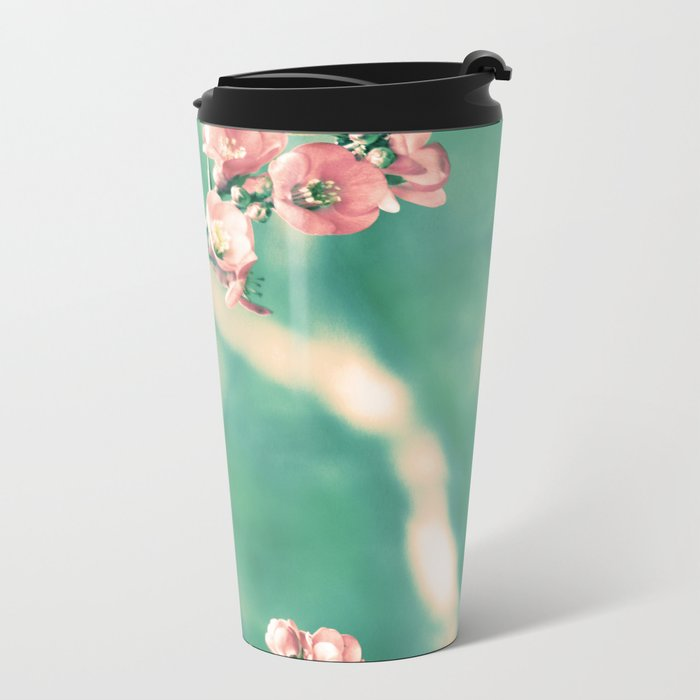Softly Spring Love Metal Travel Mug