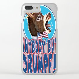 Anybody But Drumpf copy Clear iPhone Case