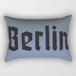 Berlin Fracture Font Rectangular Pillow