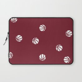 Basketball Maroon Pattern Dribble Ball Court Hoops Game Laptop Sleeve