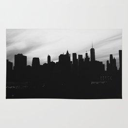 Wistful monochrome NYC skyline Rug