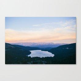 Donner Lake // California Canvas Print