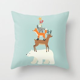 Picking Stars Throw Pillow