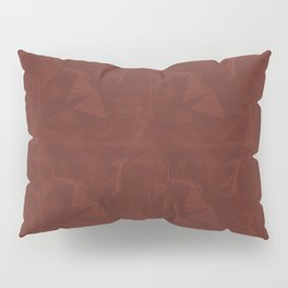 Abstract Polygon Pantone Burnt Henna Red 19-1540 Geometrical Low Poly Triangle Pattern 1 Pillow Sham