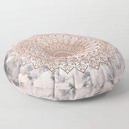 ROSE NIGHT MANDALA Floor Pillow