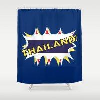 thailand Shower Curtains featuring Thailand by mailboxdisco