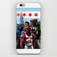 sports iPhone & iPod Skins featuring Chicago Sports by Carrillo Art Studio