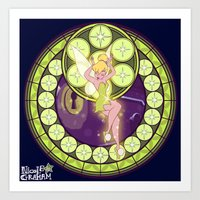 tinker bell Art Prints featuring Tinker Bell by NicoleGrahamART