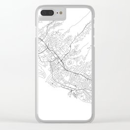 Honolulu White Map Clear iPhone Case