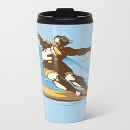 God Surfed Metal Travel Mug
