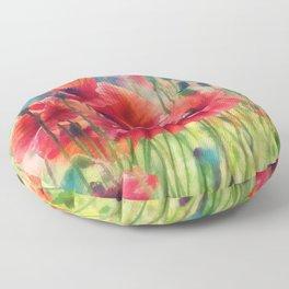 Poppy Parade Floor Pillow