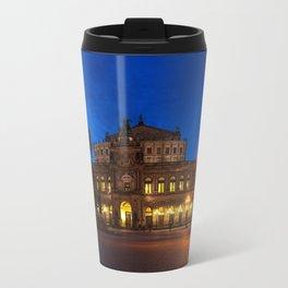 Germany-Dresden Semper Opera blue hour Travel Mug