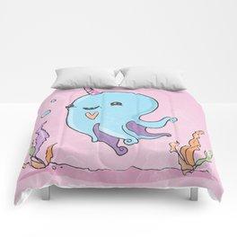 Little baby octopus Comforters