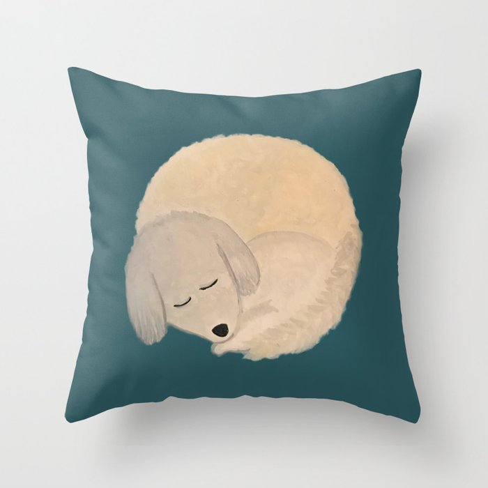 Dog Donut Throw Pillow