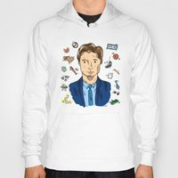 mulder Hoodies featuring Fox Mulder  by sarah sawtelle