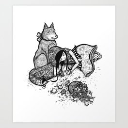 Lonely Red Riding Hood Art Print