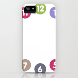 Colorful clock iPhone Case