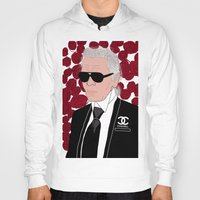 karl lagerfeld Hoodies featuring Karl Lagerfeld by Stephanie Jett
