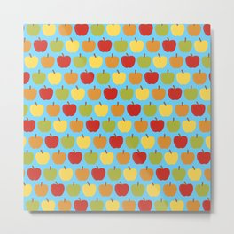 Apples Over Blue Metal Print