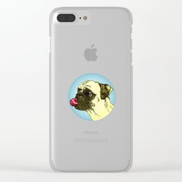 Pug Drug Clear iPhone Case