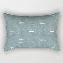 triple dash - dusty blue Rectangular Pillow