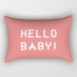 Hello Baby! {salmon} Rectangular Pillow
