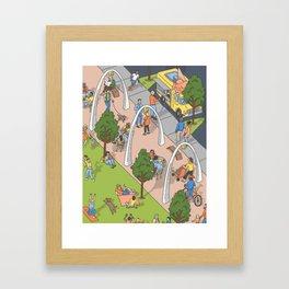 Klyde Warren Park Framed Art Print