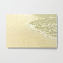 beach sparkling golden sand Metal Print