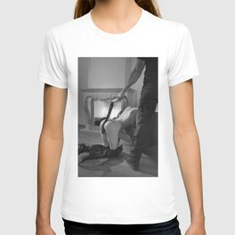 Photograph Bdsm style with a man and a nude woman T-shirt
