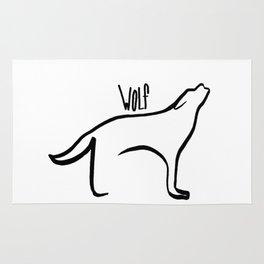 Simple Wolf Rug