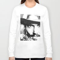 johnny depp Long Sleeve T-shirts featuring Johnny Depp by DeMoose_Art