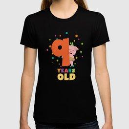 Nine Years old ninth Birthday Party T-Shirt Dz7rg T-shirt