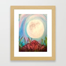 Poppy Moon Framed Art Print