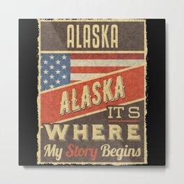 Alaska USA Flag Metal Print