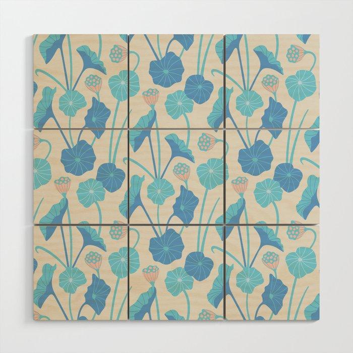LOTUS POND Pattern Wood Wall Art
