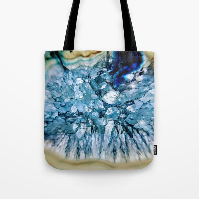 Blue Crystalline Tote Bag
