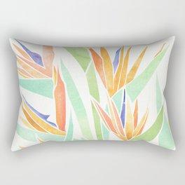 Birds of Paradise ~ tropical bouquet Rectangular Pillow