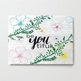 Floral Motivation Metal Print