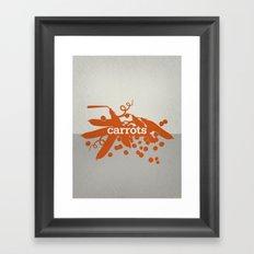 Carrots/Peas Framed Art Print