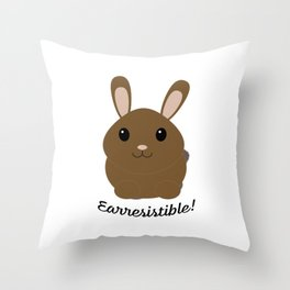 Earresisible Bunny Throw Pillow
