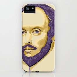 Shakespeare - royal purple and yellow iPhone Case