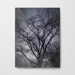 Haunted Sky and Trees Metal Print