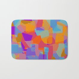 orange red blue and purple abstract background Bath Mat