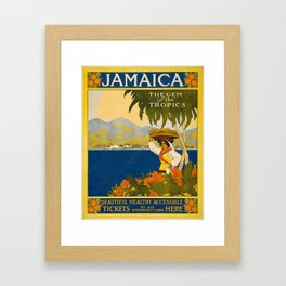 Jamaica, The Gem of the Tropics Framed Art Print