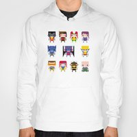 x men Hoodies featuring Pixel X-Men by PixelPower