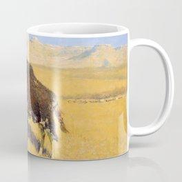 Frederic Remington - Indians Simulating Buffalo, 1908 Coffee Mug