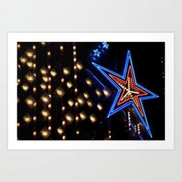 neon star Art Print