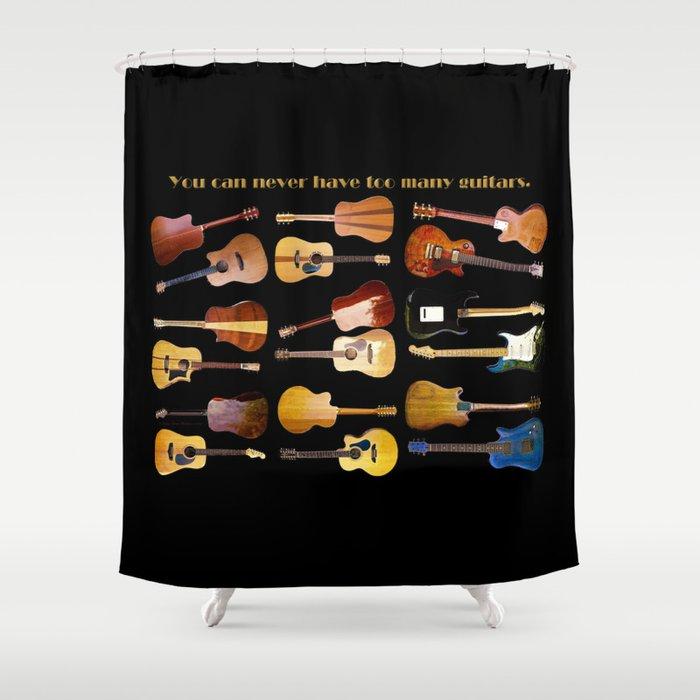 Guitars Galore Shower Curtain