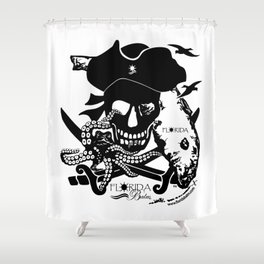 Octopus v Florida Pirate Shower Curtain